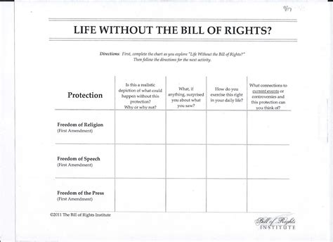 section 1 bill of rights worksheet bill of rights matching worksheet caytailoc