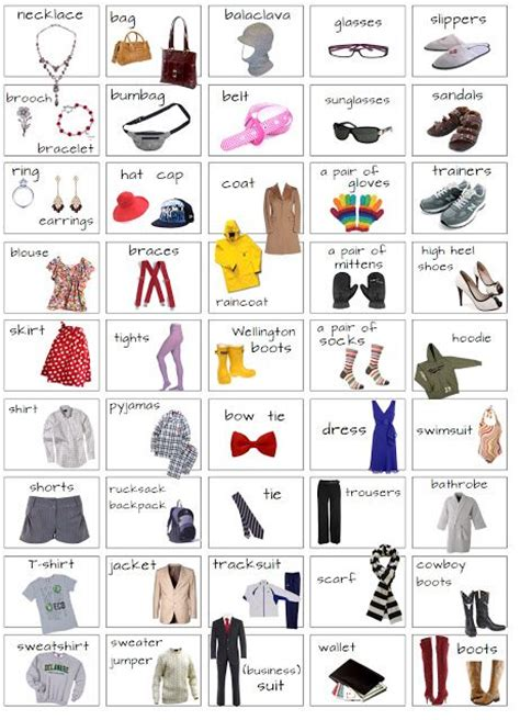 clothes pattern names 17 best images about english clothes and acessories on