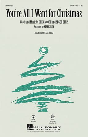 swing medley lyrics you re all i want for christmas sheet music direct