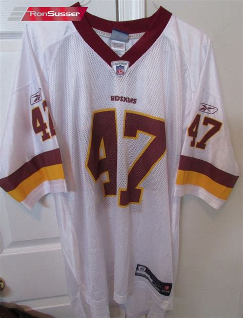 replica white chris cooley 47 jersey spot p 117 nfl washington redskins chris cooley 47 jersey xl signed