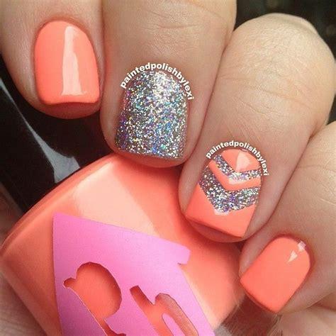 orange pattern nails 54 best nails sept 27 images on pinterest nail nail