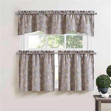 Bird Window Curtains Blue Bird Window Curtain Tier Pair In Blue Bed Bath Beyond