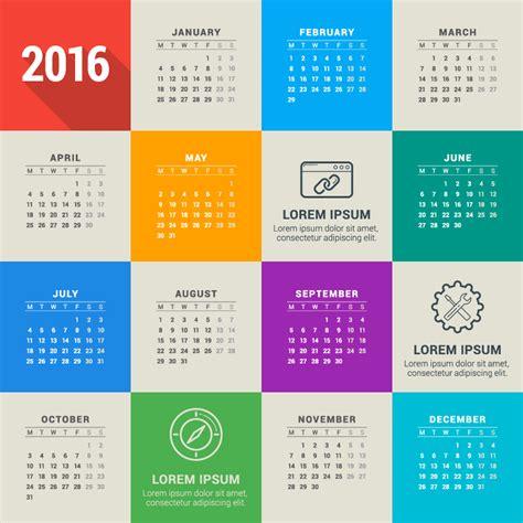 Calendar Blocks Month Blocks Calendar 2016 Vector Free Vector Graphic