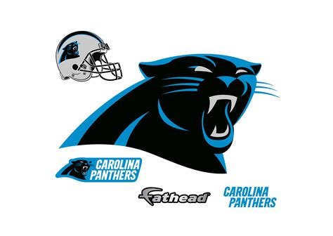 carolina panthers logo wall decal shop fathead 174 for