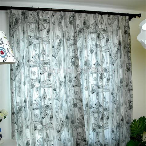 black and white curtains for bedroom elegant european style wood grain print blackout curtains
