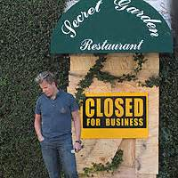 kitchen nightmares the secret garden closed reality