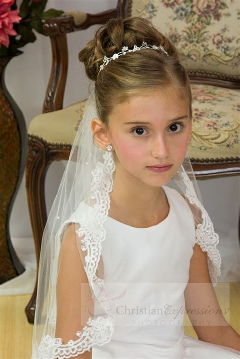 pictures of childrens hair with communion veil 1000 ideas about first communion hair on pinterest