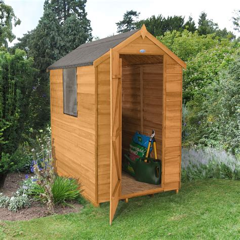 forest apex overlap wooden shed departments diy  bq
