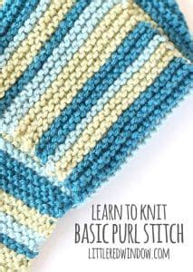 learn to knit purl stitch learn to knit tutorials window