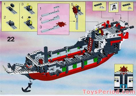barco pirata lego instrucciones lego 6286 skull s eye schooner set parts inventory and