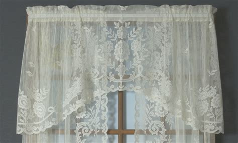 the drapery shop irish point lace valance thecurtainshop com
