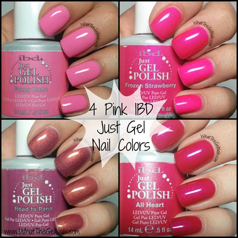 gel nails colors 4 pink ibd just gel nail colors