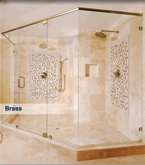 Frameless Shower Finishes And Colors Cr Laurence Shower Doors