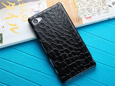 Sony Z5 Premium Leather Back Cover Bumper Armor Keren Soft Casing sony xperia z5 compact crocodile leather back