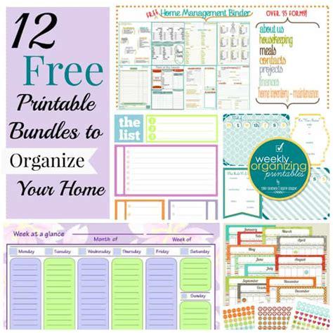 printable home organization binder 12 free printable bundles to organize your home
