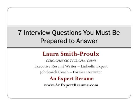 Questions About Experts You Must The Answers To 2 by 7 Questions You Must Be Prepared To Answer Webinar Slides