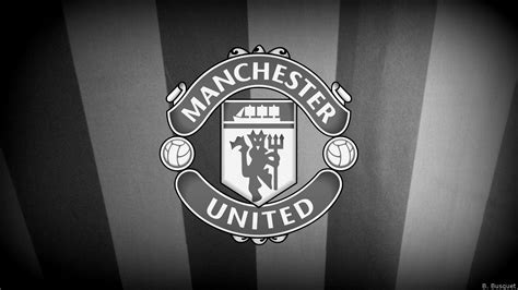 Manchester United White manchester united logo black and white wallpaper www