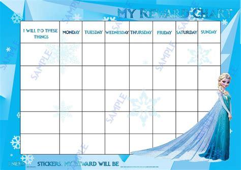 printable reward charts frozen disney printable template chart calendar template 2016