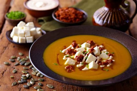 Ff Bowl Dia 23 Cm 683 comfort in a bowl butternut squash soup with chorizo and agave syrup cacique 174 inc