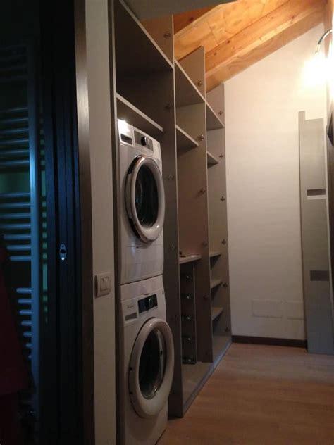 armadi da corridoio mobili su misura per mansarda porta lavatrice ed