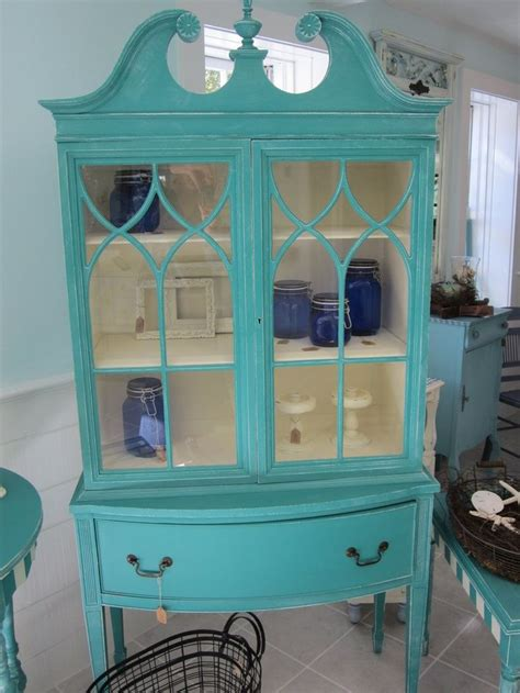 Holiday Sale Save 150.00 off Distressed Antique China Cabinet painted