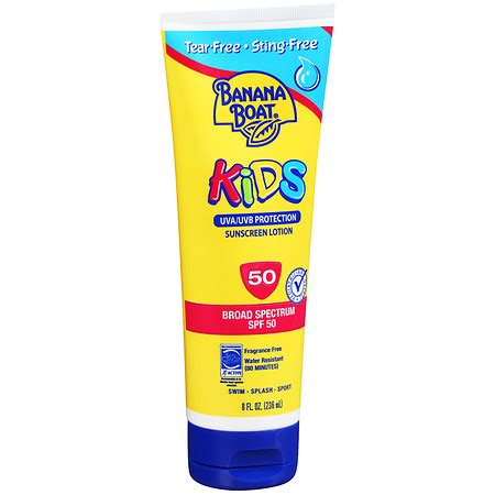 banana boat unscented sunscreen banana boat kids sunscreen lotion spf 50 fragrance free
