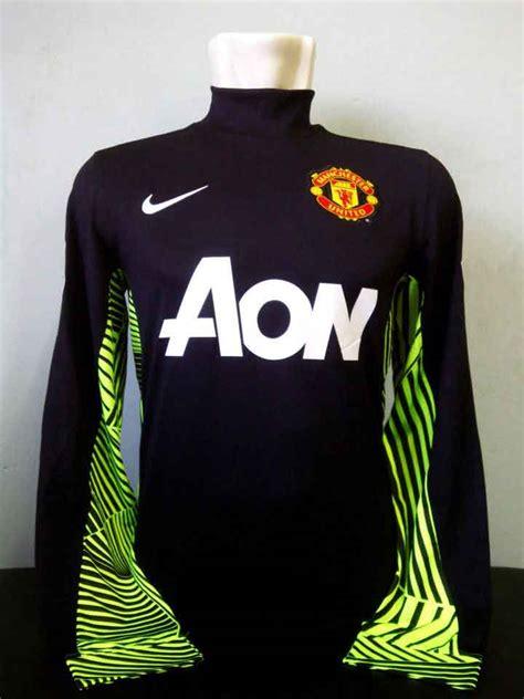 Jersey Bola Manchester United Gk Kiper G Kode Df8234 1 toko olahraga hawaii sports jerser original nike manchester united gk de gea sleeves black