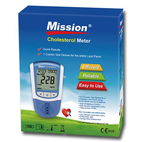 Cholesterol Meter mission cholesterol 4in1 hdl ldl total cholesterol triglycerides 5 test devices