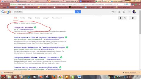 Membuat Shortcut Link Website | cara membuat shortcut link web dengan google url shortener