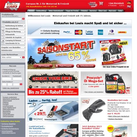 Louis Motorrad Online Shop De by Louis Gutschein September 2018 Louis Gutscheincode