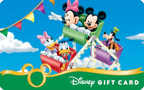 image mickey and friends in the carosel disney gift card png disneywiki
