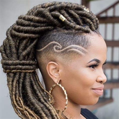 long cornrow hairstyles with shaved sides 40 long and short faux locs styles and how to install them