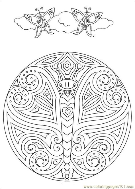 butterfly mandalas coloring pages