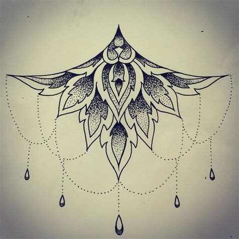 mandala sternum tattoo best 25 sternum design ideas on