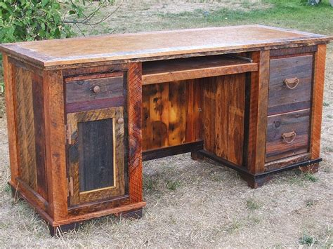 rustic wood corner desk reclaimed wood corner desk hostgarcia