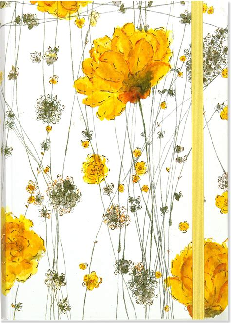 libro footpath flowers yellow flowers journal notebook diary small format journals peter pauper staff