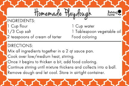 easy homemade playdough recipe free printable thriving home