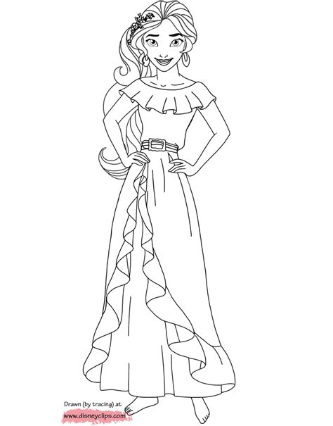 Printable Coloring Pages Elena Of Avalor | disney elena of avalor printable coloring pages disney