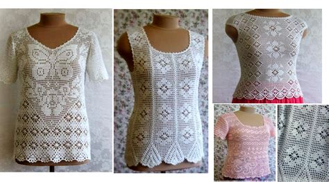 ver a travs de la blusa ganchillo blusa patrones tallas grandes de 4 maravillosas blusas para el verano a crochet gr 225 ficos
