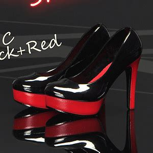 High Heels Shoes 520q Mc mc toys 1 6 high heeled shoes c black fashion doll hobbysearch fashion doll store