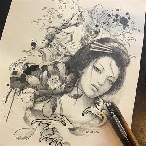 tattoo geisha realista pin de pszeklety en geisha tattoo pinterest tatuajes