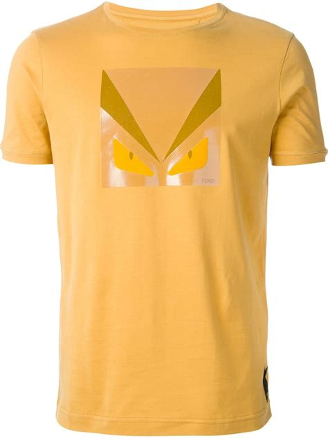 Morning Whistle Crew Neck T Shirt Soft Yellow Canary lyst fendi bug print t shirt in yellow for