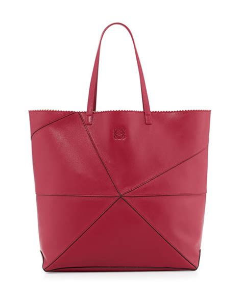 Origami Tote Bag - loewe lia origami leather tote bag