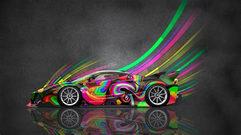 colorful car wallpaper 4k ferrari fxx k side super abstract aerography car 2015