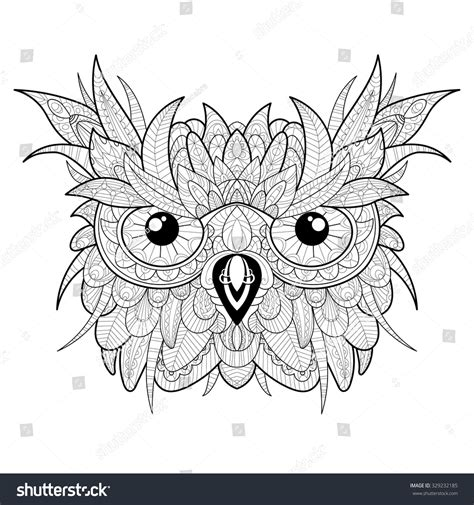 New Color Owl high detailed owl stock vector 329232185