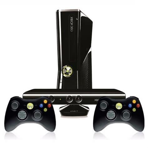 consola xbox consola xbox 360 slim 3 juegos 2 controles kinect