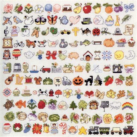 the pattern sourcebook mini small cross stitch patterns stickvorlagen steken diagrammen en ankers