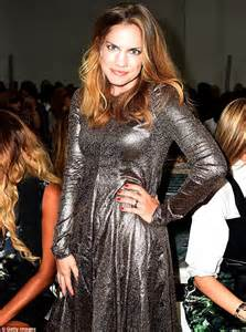 anna chlumsky shimmers in bronze then slips into flirty
