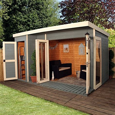 12 215 8 t g wooden contemporary summerhouse with side storage shed by waltons search furniture
