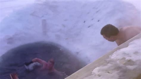 russian naturalist naked sauna fun nudist having fun ice swim and sauna in
